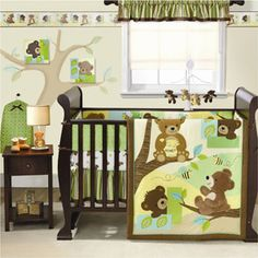 Possible baby boy bedding set... Think these little bears are so cute :)
