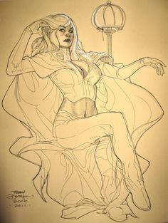 Terry Dodson - Emma Frost Comic Art
