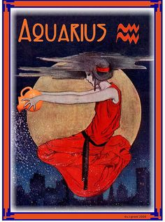 vintage style Aquarius