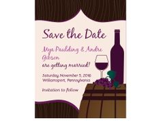 Wine Barrel Vineyard Save the Date Cards for a vineyard wedding. - Wine Country Occasions, www.winecountryoccasions.com