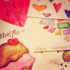 A snippet of my handmade Valentines.