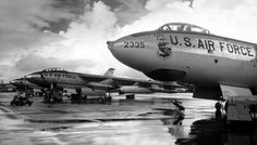 B-47 Stratojets at SAC after a rainstorm