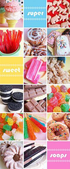 soaps, showers, lovele soap, bakerella blog, food blog, sugar