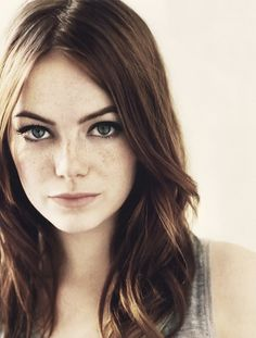 freckl, hair colors, girl crushes, emma stone, head shots, beauti, stones, celebr, natural beauty