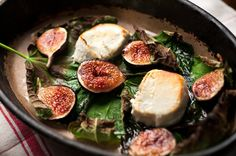 Baked figs and goat cheese. Photo: Karsten Moran for The New York Times