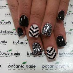 botanicnail, botan nail, all white nails, nail arts, bw nail