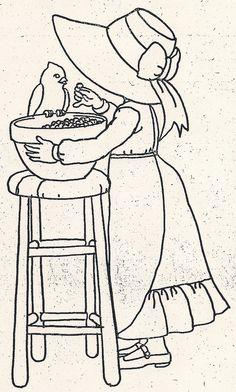 Girl Feeding Bird by jeninemd, via Flickr