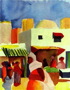 Market in Algiers - August Macke