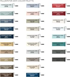 Sherman-Williams Spring/Summer 2014 Color Palette for Pottery Barn