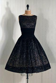Black 1950's Dress