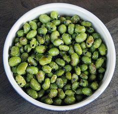 Roasted Edamame: Who needs chips when you can have a healthy snack that packs a protein-packed punch? Get the simple instructions for roasted edamame here. Calories per serving: 102