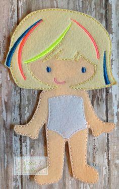 Felt Un Paper Sheena Doll by NettiesNeedlesToo on Etsy, $6.00