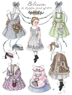 Vintage Paper Dolls by Helen Page
