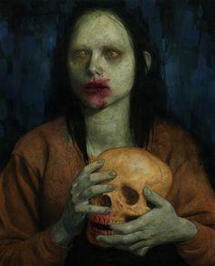 Jeremy Enecio #girl with skull