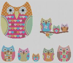 owls photo by Lucie Heaton Cross Stitch Designs from Flickr at Lurvely