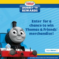 Win Thomas & Friends items! Check out Thomas & Friends Journey To Rewards Sweepstakes #JourneyToRewards #sponsored