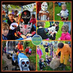 Halloween Feed Run Fun at Coombe Mill