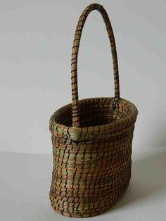 Pine Needle Basket with Handle by lindafannin on Etsy, $45.00