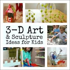 3D Art and Sculpture Ideas for Kids