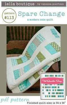 Spare Change Downloadable PDF Quilt Pattern Lella Boutique by Vanessa Goertzen