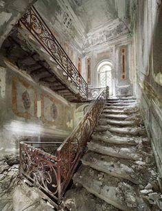 Belgian pilot and photographer Henk van Rensbergen has been exploring abandoned places all his life stairway, pilot, haunted abandoned places, old houses, beauti, henk van rensbergen, italian beauty, abandoned houses, abandon place