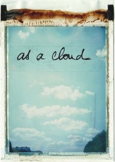 clouds, polaroid, art, collages, perspective, belle, typography, photography, bright colors