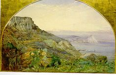 Barbara Bodichon, At Ventnor, Isle of Wight, watercolor, 1856