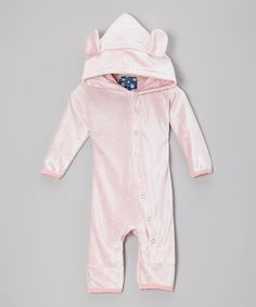 Velour Hooded Romper #zulily #ad *so sweet