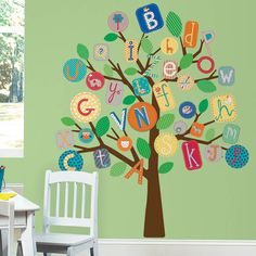 ABC Tree Wall Decal - great for a playroom or classroom!