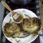 WOW, Grilled Artichokes with a Lemon Garlic Basting and Dipping Sauce.... YUM