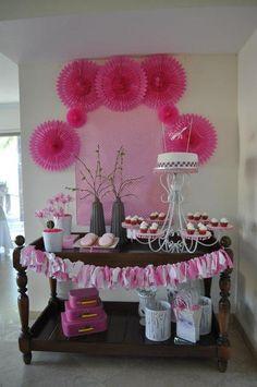 Pink Baby Shower #pink #babyshower