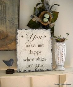 YOU Are MY SUNSHINE Shabby Cottage Romantic by thebackporchshoppe, $36.95