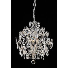 3-Light Crystal Ball Accents Pendant Chandelier