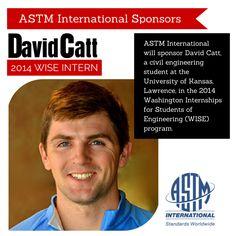 ASTM Sponsors David Catt, University of Kansas Student in WISE Internship Program