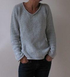 simple summer tweed top down. free pattern..