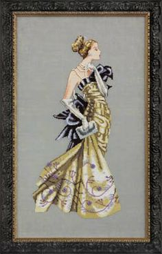 """Lady Alexandra"" is the title of this cross stitch pattern from Mirabilia that is stitched with DMC threads. Click on the highlighted link t..."