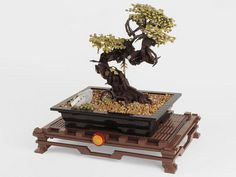 Lego Bonsai Tree (Indoors) by Brickthing, via Flickr