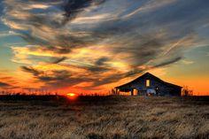 Old Barn at Sunset in Pawhuska, Oklahoma