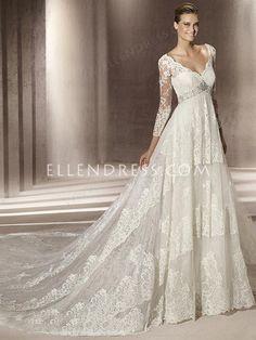 Wedding dress style: Italian lace wedding dresses