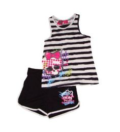 Amazon.com: Monster High Girls Tank Top and Shorts Outfit Set: Clothing  - Amazon - $25.00