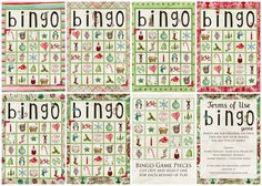 Free Printable Christmas BINGO Download.  From Simply Fresh Designs.