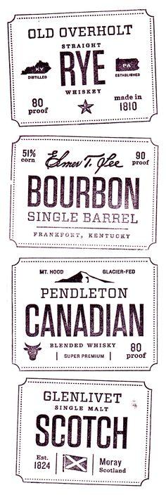 whiskey stamps by Jen Wick Studio