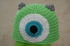 Monsters University inspired Mike Wazowski Hat by OOKKnits on Etsy