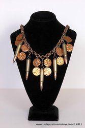 Hell's Kitchen Flea Market vendor: Karen Trivelli- Bullet and Shells necklace