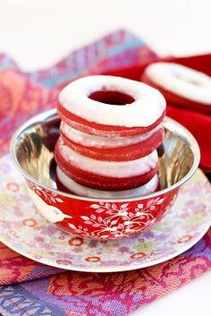 Red velvet donuts, I love anything red velvet