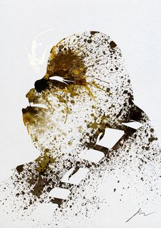Paint Splatter Star Wars by Arian Noveir (Chewie).  Click through for lots of awesome Splatter Characters.
