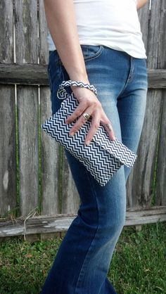 Clutch/ Wristlet by CaraLeAnnDesigns on Etsy, $25.00