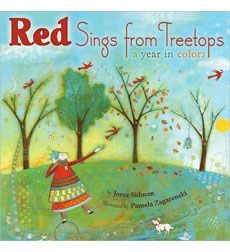 book cover art, books, illustrations, seasons, joyc sidman, colors, red sing, children pictures, mentor texts