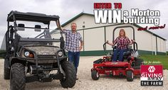 Enter for a chance to win a Morton Building and more! build farm, morton build, build someday