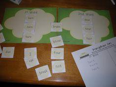 Using word sorts